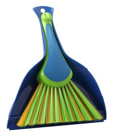 Take a look at this Peacock Brush & Dustpan by Boston Warehouse on #zulily today!