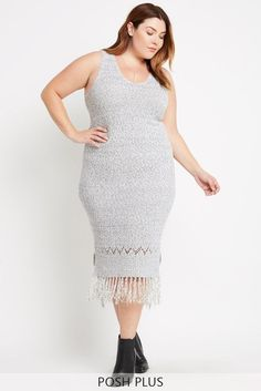 Peace Within Tassel Sweater Dress Plus Size
