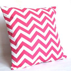 SALE Pink Throw Pillow Cover  Chevron  18x18 or by PureHomeAccents, $13.99