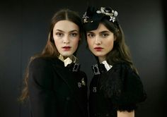 Dolce&Gabbana Fall-Winter 2016-17 #DGFabulousFantasy Women's Fashion Show. Backstage Models are wearing Glamour Accessories: Silk Headgears with Chrystals and Chic Metal Chokers with Silk Finish and Chrystals. Then much Lace for the Winter season! More insights on  @dolcegabbana and #dgfw17. Also follow @voguerunway and #MFW.