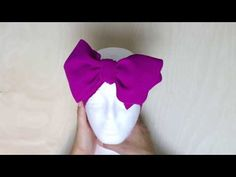 How To Tie a Headband Bow - La Romi - YouTube