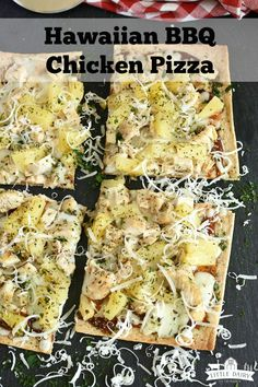 Hawaiian BBQ Chicken Pizza is a quick and easy meal idea. Use leftover chicken and learn about how to customize it.littledairyon… We are want to say thanks if you like to share this post to another. Pizza Recipes, Easy Dinner Recipes, Beef Recipes, Chicken Recipes, Delicious Recipes, Party Recipes, Sandwich Recipes, Grilling Recipes, Dessert Recipes