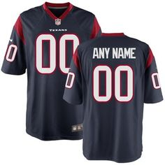 NFL Jersey's Women's Houston Texans Nike White Custom Game Jersey