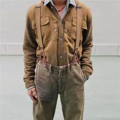 Men's Solid Color Panel Jacket,Jackets Shirt Shop, Denim Shirt, Tweed, Military Jacket, Button Up Shirts, Fall Winter, Leather Jacket, Plaid, Shirt Dress
