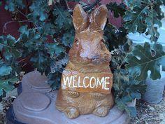 Rabbit  Bunny  Cast Stone  Hand Cast Hand by MountainArtCasting, $39.95