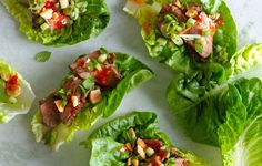 We got no buns, 'hon. These ideas for lettuce wraps and cups are so tasty, you won't even miss the carbs.