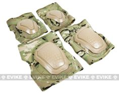 Matrix Bravo Advanced Neoprene Tactical Knee and Elbow Pad Set - Camo, Tactical Gear/Apparel, Knee / Elbow Pads - Evike.com Airsoft Superstore