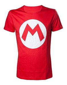 Nintendo Mario - 'M' Camiseta Rojo L #camiseta #realidadaumentada #ideas #regalo