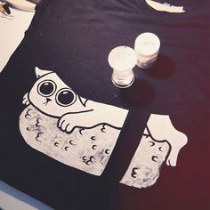 ⠀⠀⠀⠀•●●• WIP Cat Sushi T-Shirt  ⠀ #diy #selfmade #cat #sushi #white #paint #watercolor #tshirt #tshirtdesign #peopledisappoint #foodiseternal #art #artist #instaartist #design #illustration #artacademy @art.academy #creovoglio #dailydrawoff @dailydrawoff #arts_help @artscrowds @art.academy @art_spotlight #700wordstosay #artsyfartsy Never post without credit. ⠀⠀⠀⠀⠀⠀⠀⠀⠀⠀⠀⠀⠀⠀⠀•●●•