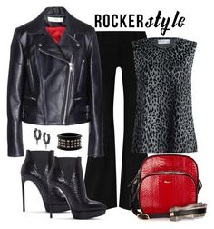 """""""Victoria Beckham Biker Jacket Look"""" by romaboots-1 ❤ liked on Polyvore featuring Alice + Olivia, Zimmermann, F.E.V., JoÃ«lle Jewellery, Yves Saint Laurent, dVb Victoria Beckham and Burberry"""