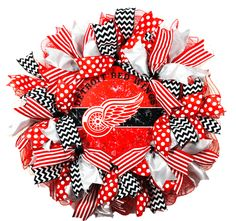 NFL detroit red wings cake, detroit red wings hockey, detroit r. Wings Wallpaper, Iphone Wallpaper, Detroit Red Wings, Red Wing Logo, Red Wings Hockey, Diy Wings, Sports Wreaths, Nfl, How To Make Wreaths