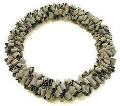 Tanja Harmann. Necklace  'Twisty Chain'.  Textile elastic