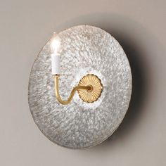 Check out Beaded Brass Zinc Wall Sconce from Shades of Light