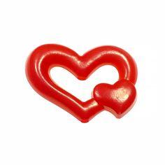 Coeur Perle Rouge Plastique