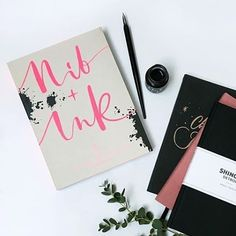 Nib + Ink Modern Calligraphy Book by Chiara Perano. Picture by Learn Calligraphy, Modern Calligraphy, Shinola Detroit, Winter Day, Guide Book, Ink, Book Covers, Instagram Posts, Books