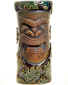 Munktiki Tiki Mug Tiki Totem, Tiki Tiki, Tiki Hut, Pottery Sculpture, Pottery Art, Tiki Decor, Hawaiian Tiki, Tiki Lounge, Tiki Mask