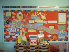 Learning wall Ks2 Classroom, Classroom Decor, Classroom Organisation, Classroom Displays, Literacy Working Wall, Reading Display, Classroom Arrangement, Writing Area, Year 6