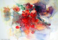 Цветочная акварель... Художница Yuko Nagayama.. Обсуждение на LiveInternet - Российский Сервис Онлайн-Дневников