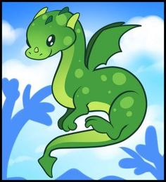 Dragons - How to Draw a Flying Dragon For Kids