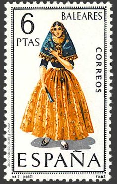 Collection of Spanish stamps:  1967 Baleares