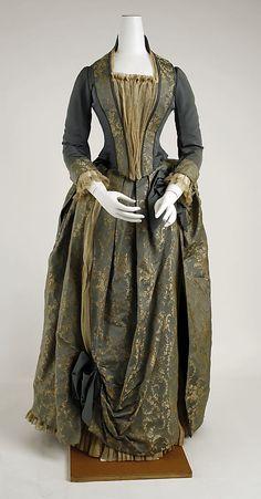 Dress  Date: ca. 1885 Culture: American Medium: silk