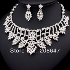 Party Jewellery Set/Fashion Crystal and Rhinestone Wedding Jewelry Free Shipping No.7170 $25.98