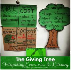 The Giving Tree is perfect for integrating economics into early literacy!