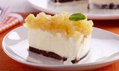 ✔ Torta gelada de abacaxi e cookies