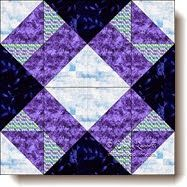 Aunt Nancy's Favorite looks pretty basic at first glance, but you can make some really interesting quilts just using this one block.