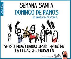 Domingo de Ramos. Semana santa, fiestas de pascuas