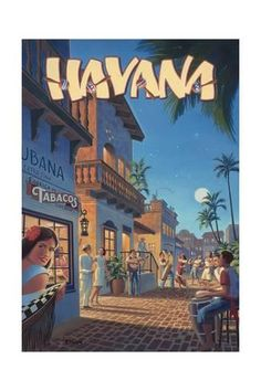 The Travel Tester vintage travel poster collection. It's time to get nostalgic with this week's retro destination: Vintage Travel Posters Cuba Pub Vintage, Photo Vintage, Vintage Havana, Vintage Cuba, Vintage Photos, Vintage Postcards, Art Deco Posters, Poster Prints, Art Prints