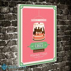 Vintage Cakes Tablo #tipografi_tablo #tipografik_tablo #tipografi_kanvas_tablolar