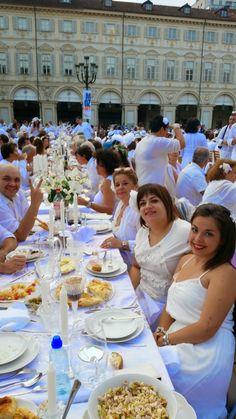 Cena in Bianco Torino 2014: la tavola in piazza San Carlo di Francesca Malacasa