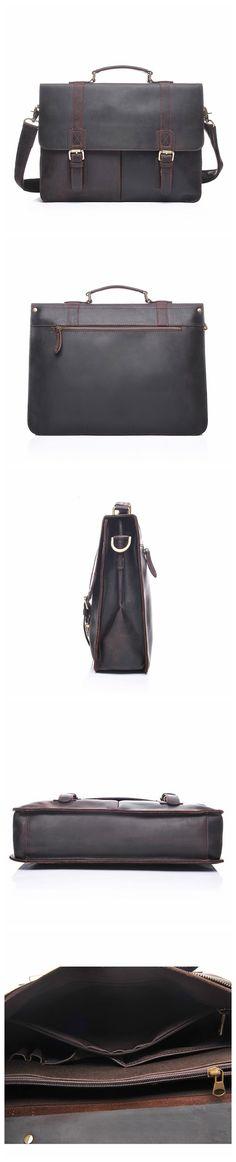 ROCKCOW Genuine Leather Briefcase, Laptop Briefcase, Business Handbag YD8028