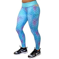 e697bb6b46a385 Shine like a mermaid in these workout leggings with pockets! There mermaid  leggings don'. Constantly Varied Gear