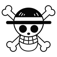 One Piece Straw Hat Flag Die Cut Vinyl Decal PV2014
