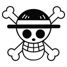 One Piece Straw Hat Flag Die Cut Vinyl Decal PV2014