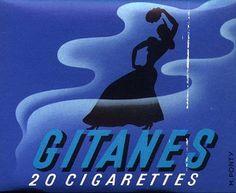 Circa 1965 Gitanes cigarette packet