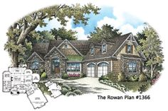 BRAND NEW - The Rowan Plan 1366 began as a custom modification to another popular design and is now available! 2 beds, 1813 square feet, bonus room with full bath. http://www.dongardner.com/plan_details.aspx?pid=4713 #Vacation #Retirement #HomePlan