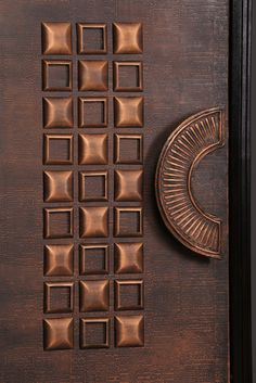 These Modern front doors have been successfully contributing to our mission of elevating Art and Architecture . It's easy to see how having a copper door in residential homes can not just make a unique statement ,but also adds value to the property . We have hand selected some of our Copper doors designs handcrafted and designed by our passionate team of Artisans and Designers incorporated with beautiful handcrafted modern door handles. You will love them ! #copperdoors #doors… Modern Entrance Door, Main Entrance Door Design, Modern Wooden Doors, Wooden Main Door Design, Modern Front Door, Entrance Doors, Front Doors, Doorway, Wood Doors