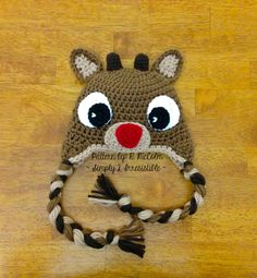 Rudolph Reindeer Hat Crochet Pattern 57 US and UK Terms