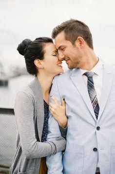 Happy engaged couple