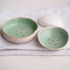 Fait main en céramique turquoise porte-savon porte savon