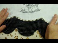 Aprendendo a fazer uma Borda diferente em seus panos de copa | Cantinho do Video