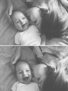 Happy baby and mom...would love to do this photo