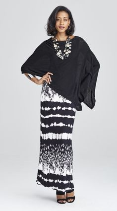 928bab817d3 Make this Maxi Skirt date-night right with a cropped poncho and statement  jewels. Chico s