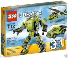 LEGO CREATOR 31007 Power Mech 3-In-1 NEW Factory Sealed