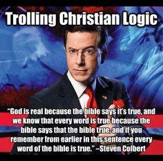 Atheist Stephen Colbert