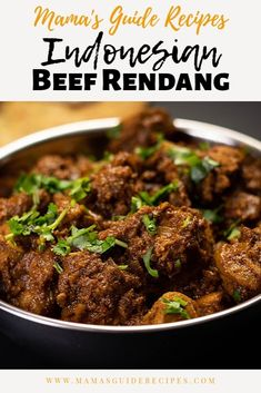 Indonesian Beef Rendang, fragrant and complex layers of flavors. With its tender texture, rich flavors and fragrant aroma. Asian Recipes, Mexican Food Recipes, Indian Beef Recipes, Thai Recipes, Healthy Eating Tips, Healthy Recipes, Healthy Food, Indonesian Cuisine, Indonesian Recipes
