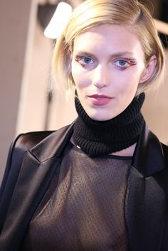 Backstage at Anthony Vaccarello RTW Fall 2014 [Photo by Delphine Achard]